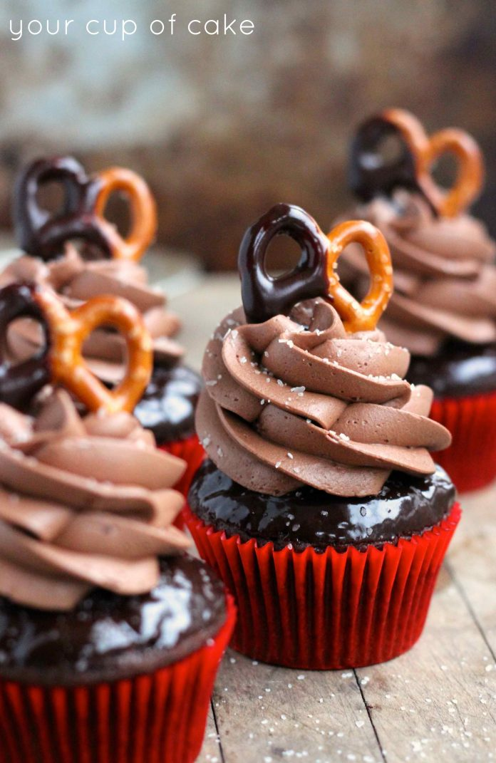 A Unique Taste of Chocolate Salted Cupcakes