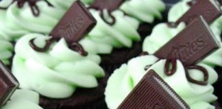 Andes Topped Mint Cupcakes
