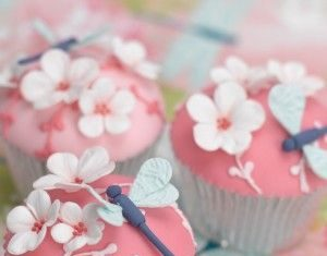 Butterfly Floral Cupcakes