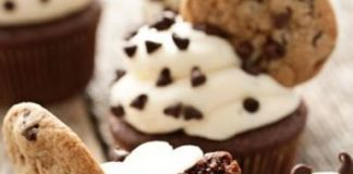 Chocolate Chips Cookie Cupcakes