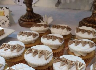Golden Baby Shower Cupcakes
