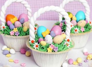 Special Easter Basket Cupcakes