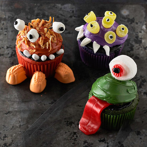 Adorable Monsters Cupcakes