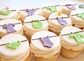 Baby Clothes Cupcakes