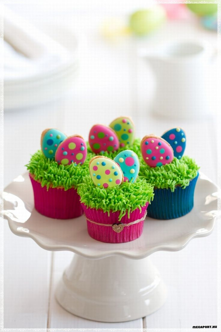 Colorful Easter Egg Cupcakes