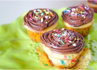 Sprinkle Party Cupcakes-