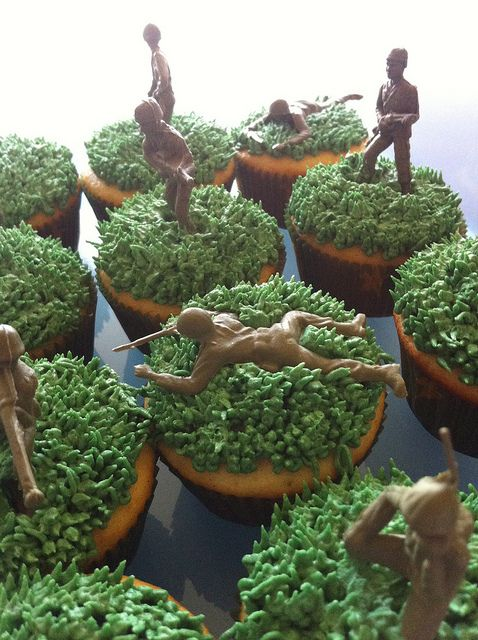 Army Themed Party Cupcakes