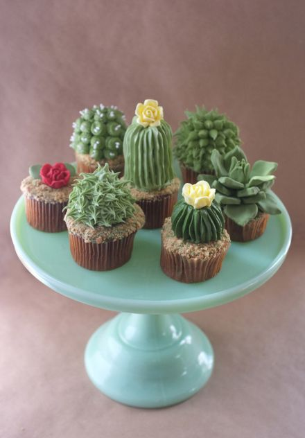 Cactus Themed Party Cupcakes