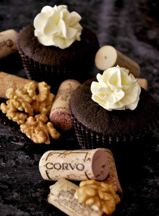 Classy Wine and Cheese Cupcakes