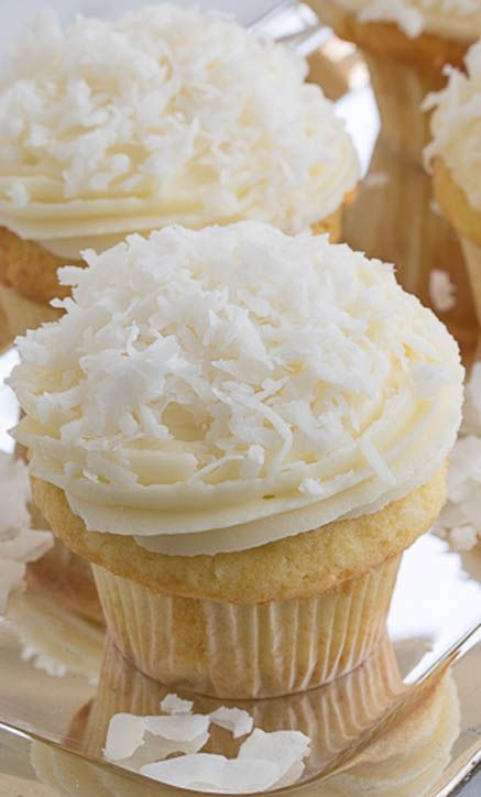 Coconut Food Party Cupcakes