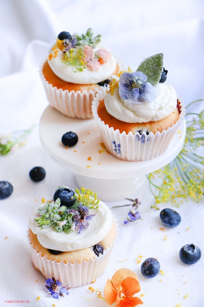 Crystallized Flower Cupcakes