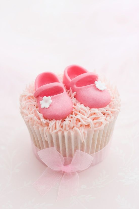 Cute Baby Shoes Cupcake