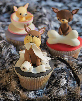 Cute Puppy Topped Cupcakes