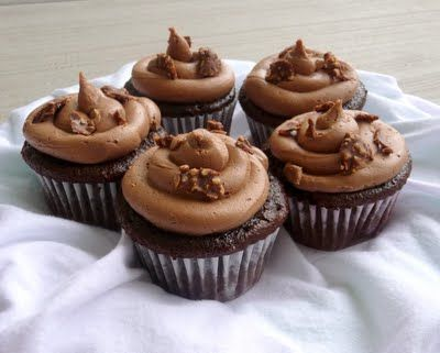 Delicious Nutella Covered Cupcakes