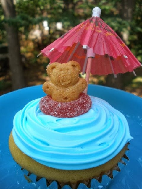 Delicious Pool Party Cupcake