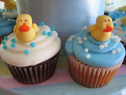 Duck Baby Birthday Cupcakes
