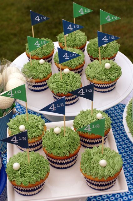 Golf Party Cupcakes