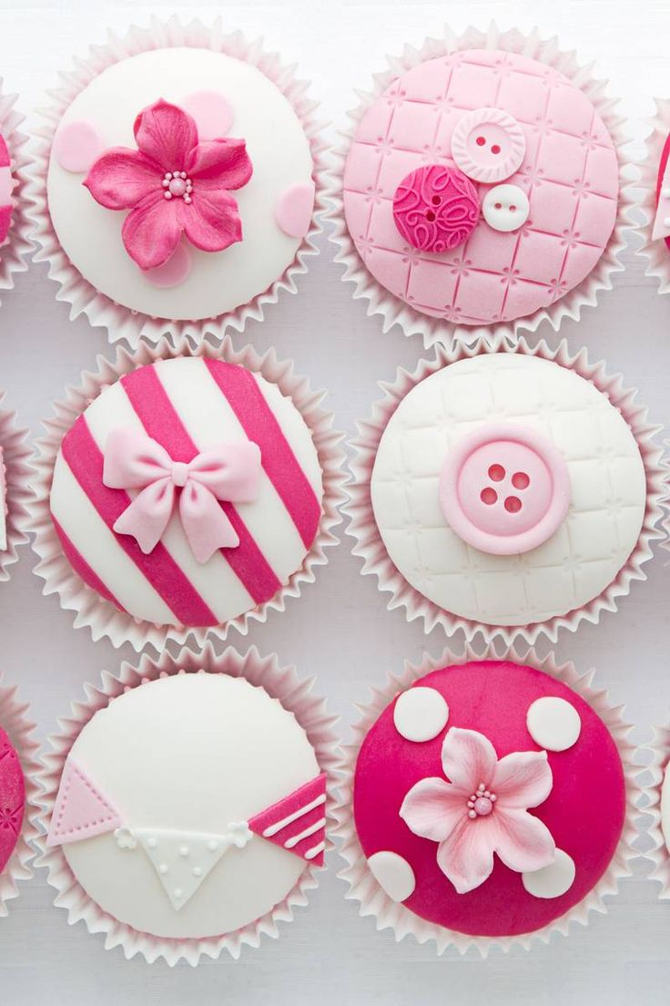 Gorgeous Pink Baby Shower Cupcakes