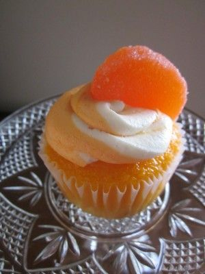 Orange Frosted Cupcakes