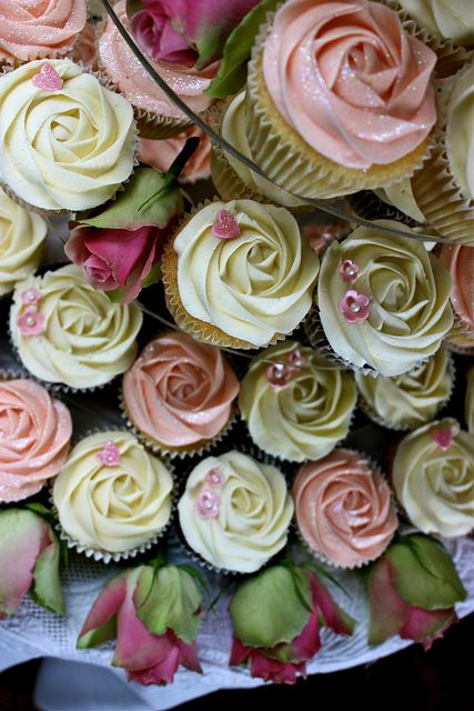 Pink and Green Pastel Cupcakes