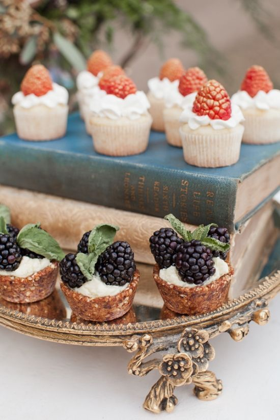 Red Colored Blackberry Cupcakes