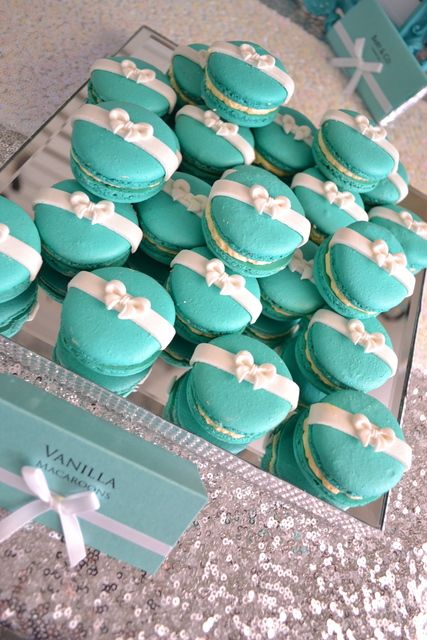 Tiffany Blue Baby Shower Cupcakes