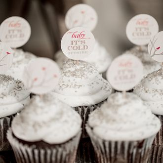 Winter Baby Shower Cupcakes