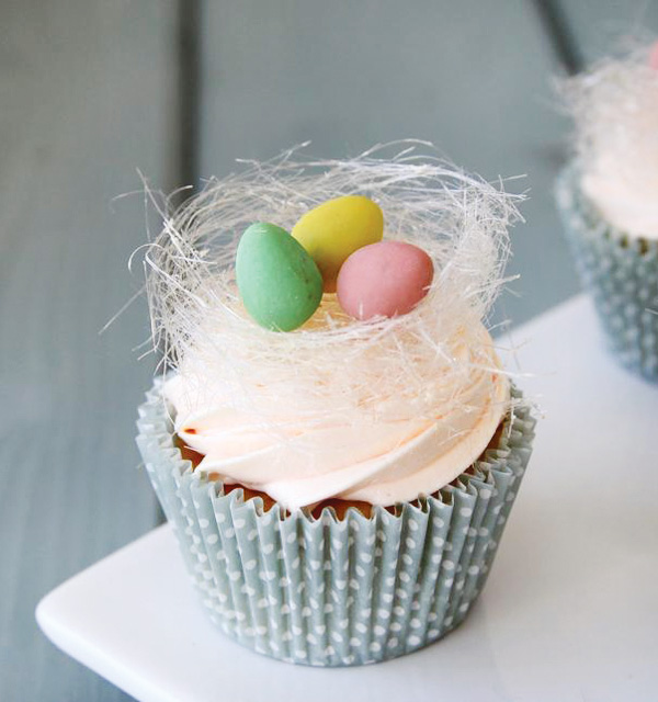 Easter Rose And Orange Cupcakes