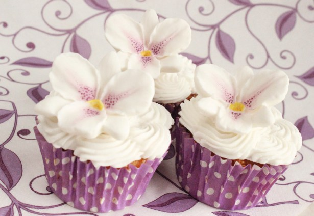 Purple Orchid Cupcakes