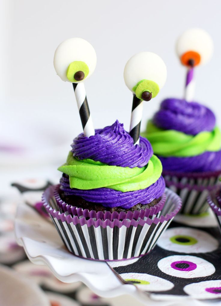 Silly Monster Cupcake