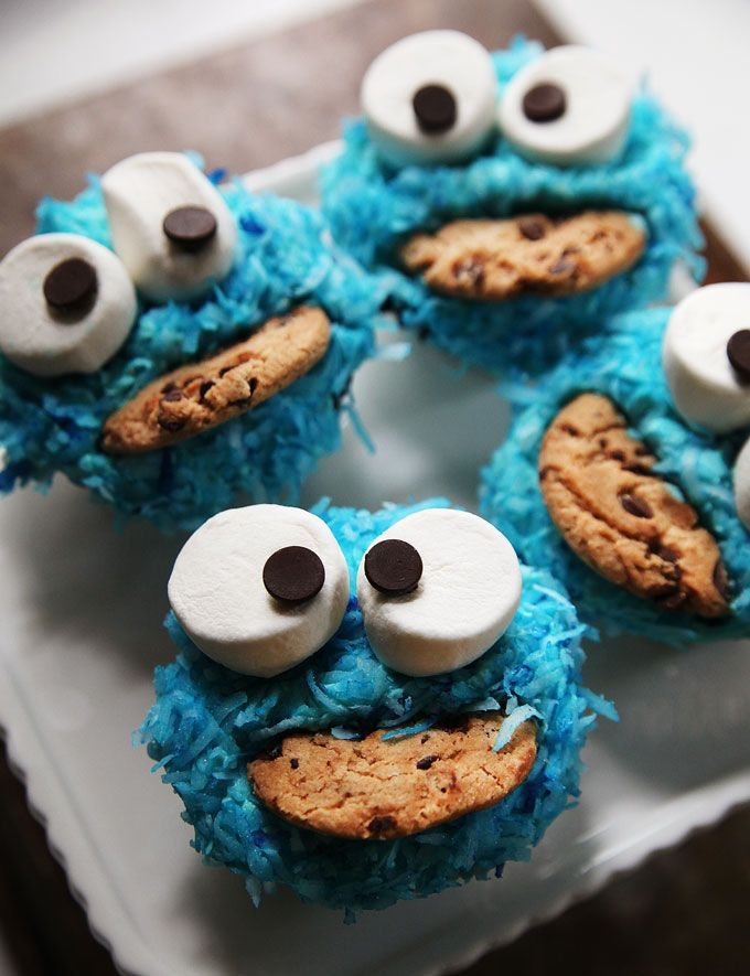 The Friendly Cookie Monster Cupcake