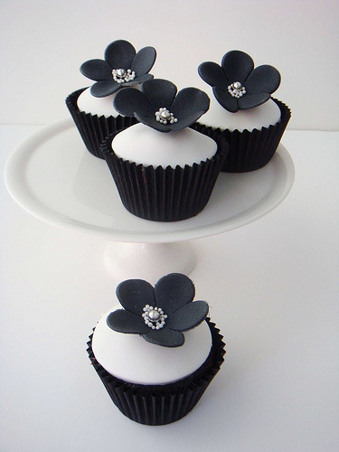 Awesome Cupcake in Black and White