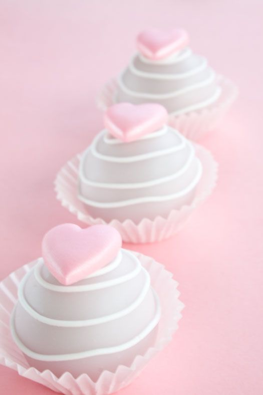 Baby Shower Heart Cupcakes