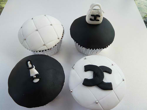 Black and White Chanel Cupcakes