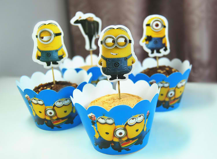 Blue Themed Despicable Me Cupcakes