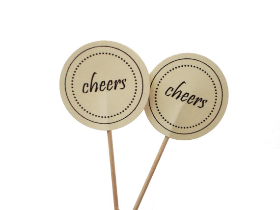 Cheers Cupcake Toppers