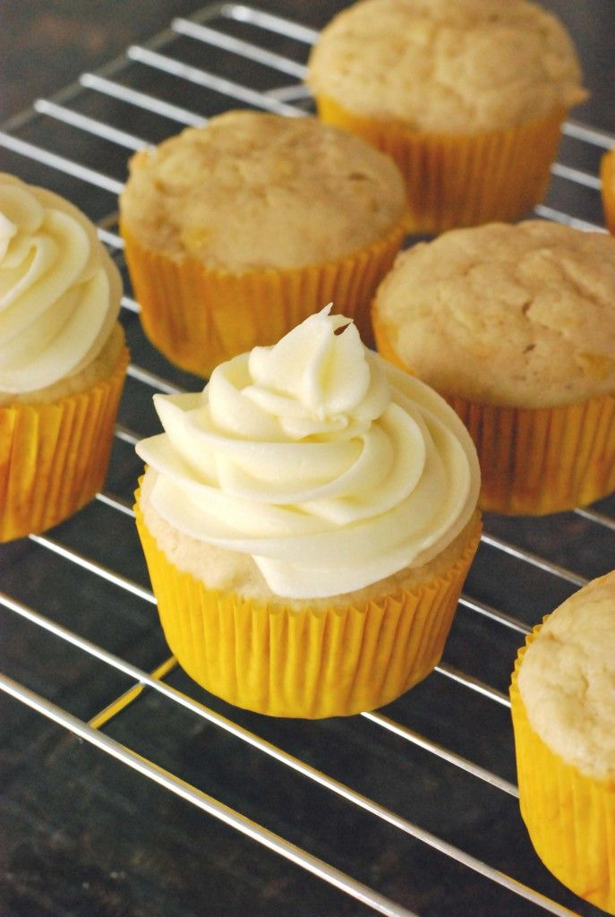 Cheese Frosted Banana Cupcakes