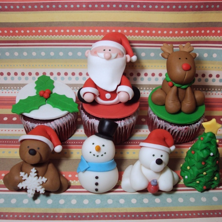 Christmas Party Cupcake Toppers