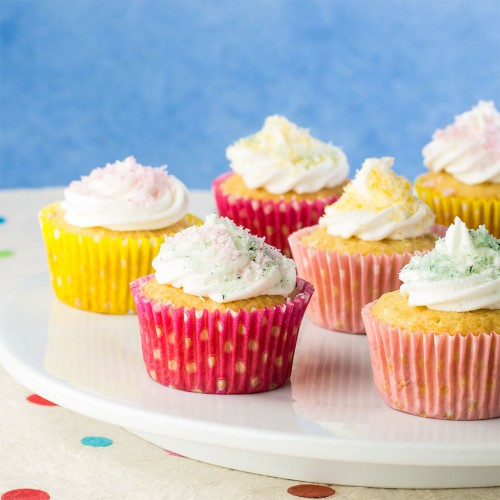 Coconut Frosted Pineapple Cupcakes