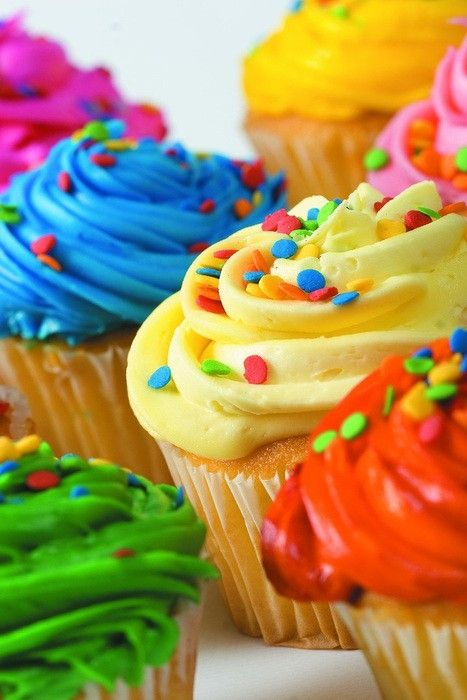 Colorful Party Perfect Cupcakes