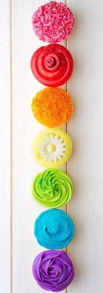 Colorful Summer Party Cupcakes