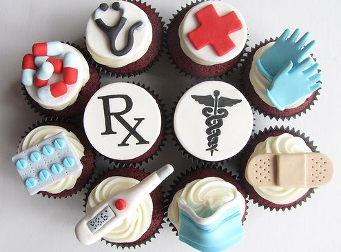 Cupcakes for Medical and Nursing Graduation Party