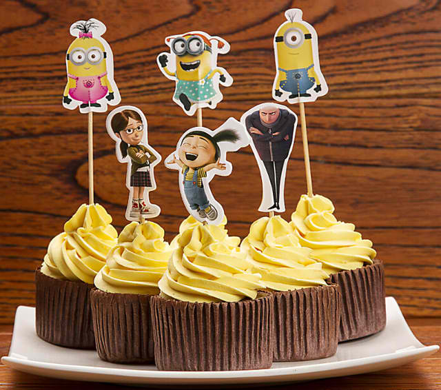 Cute Despicable Me Cupcake Toppers