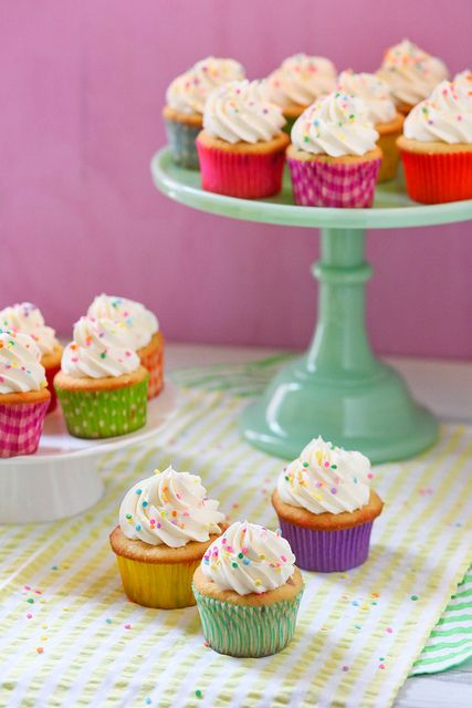 Delicious Colorful Cupcakes