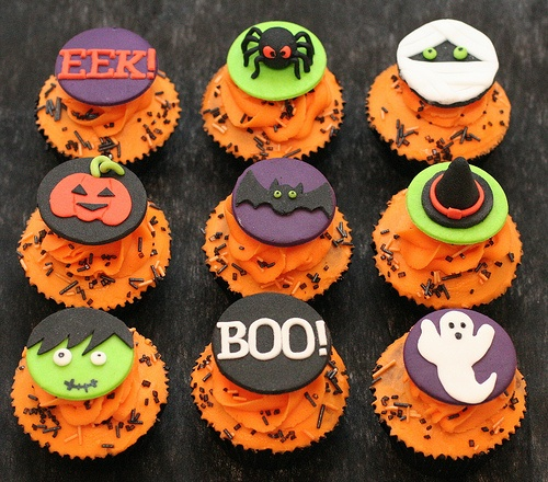Different Halloween Cupcake Toppers