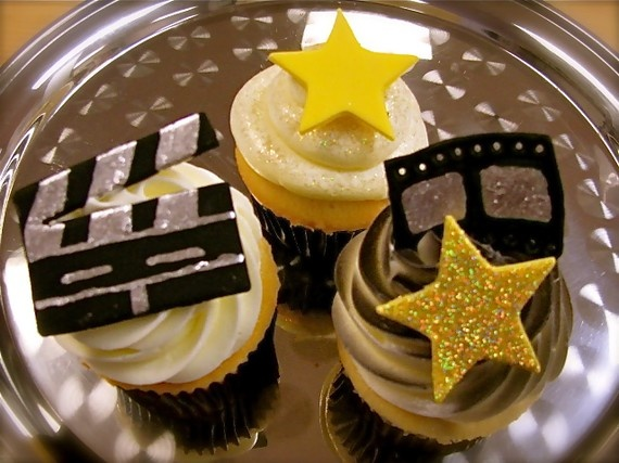 Glittery Movie Cupcake Toppers