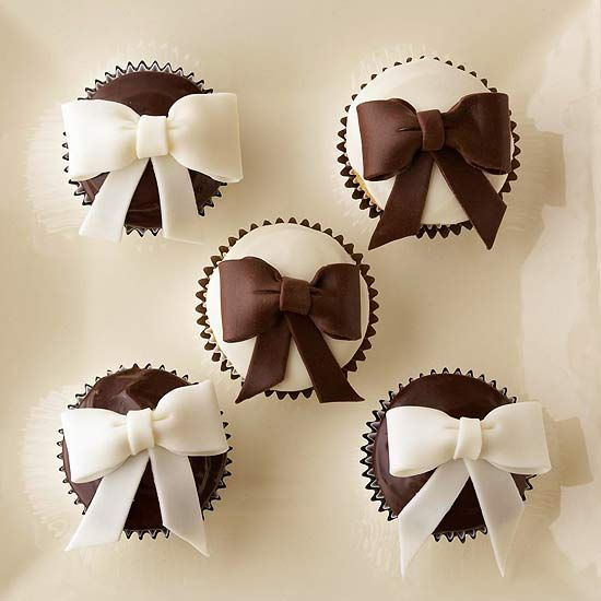 Gorgeous Black and Brown Cupcakes