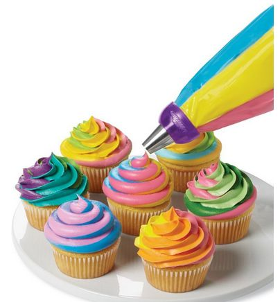 Gorgeous Colorful Cupcakes