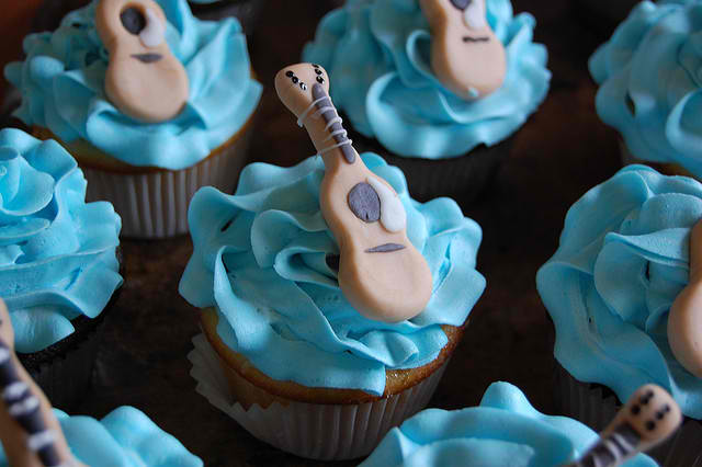 Guitar Topped Cupcakes