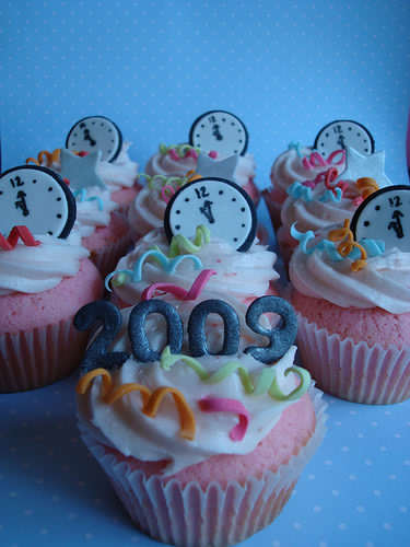 Kiddie New Year's Eve Cupcakes